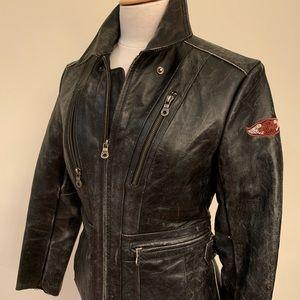 Ladies Harley-Davidson distressed leather jacket